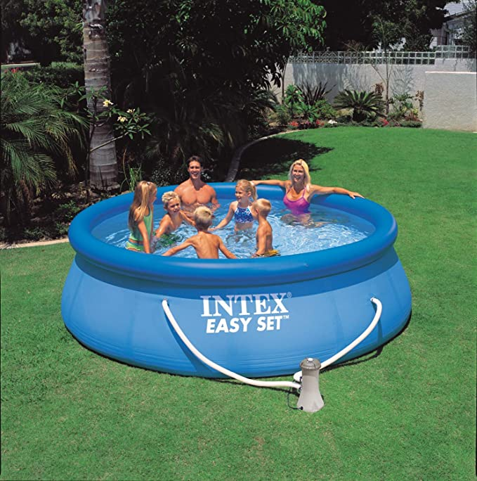 Intex Easy Set Piscina Set, Azul, 366 x 366 x 76 cm, 5, 62 L, 28132 GN: Amazon.es: Jardín