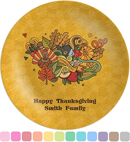 Happy Thanksgiving Melamine Plate (Personalized)  sc 1 st  Amazon.com & Amazon.com | Happy Thanksgiving Melamine Plate (Personalized ...