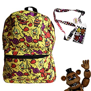 Amazon.com   FNAF Five Nights at Freddy s School Backpack Luggage Bag with  Lanyard (FNAF Cheese Melt)   Kids  Backpacks ed4ece5b0b