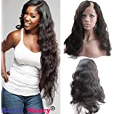 Rossy&Nancy Best Quality Left U Part Lace Front Wig with Baby Hair Natural Black Color 130% High Density for Black Women 8inch