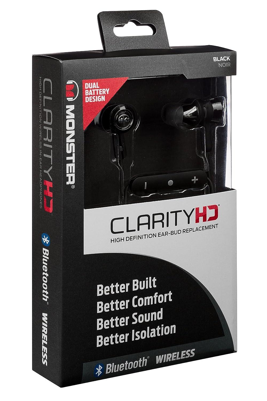 a3ee7ddf3b8 Monster Clarity HD In-Ear Bluetooth Headphones - Black: Amazon.co.uk:  Electronics