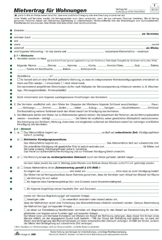 RNK   525/10 Vertragsformular Mietvertrag Für Wohnungen   10 Stück, DIN A4,  210 X 297 Mm, 3 B: Amazon.de: Bürobedarf U0026 Schreibwaren