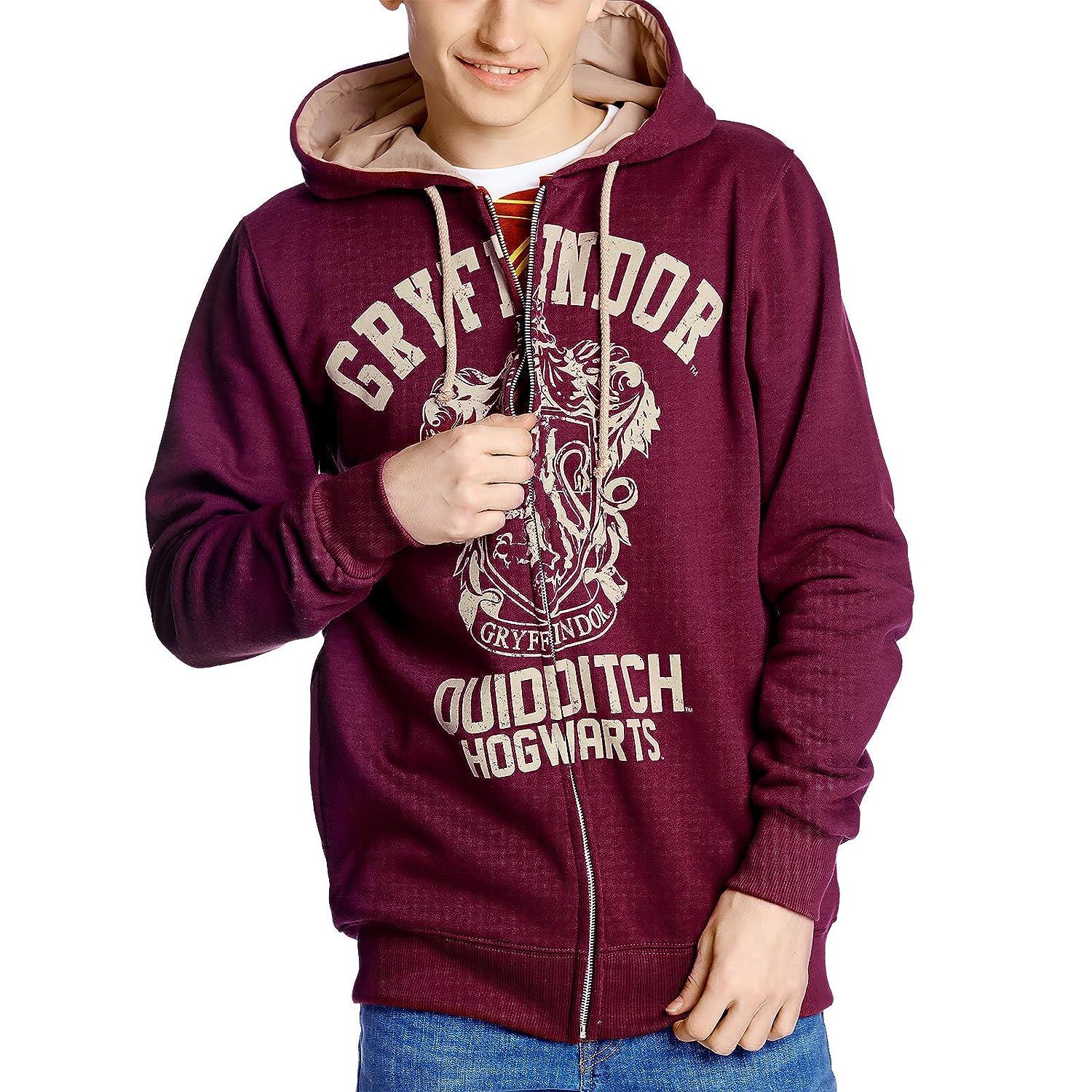 sweatshirt officiel maison harry potter Gryffondor rouge 100% cotton