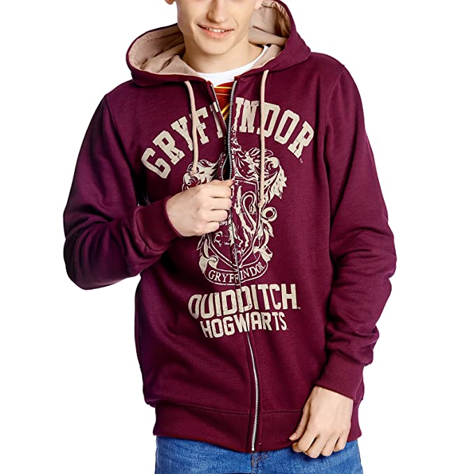 Harry Potter Hooded size S Sweater Gryffindor Quidditch Vintage sudadera - official product: Amazon.es: Ropa y accesorios