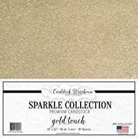 Mirrisparkle Gold Touch Glitter Cardstock Paper from Cardstock Warehouse 12 X 12 Inch- 16 Pt/280gsm - 10 Sheets