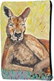 Kangaroo Cosmetic, Zipper Pouch - Support Wildlife Conservation, Read How - From My Original Painting