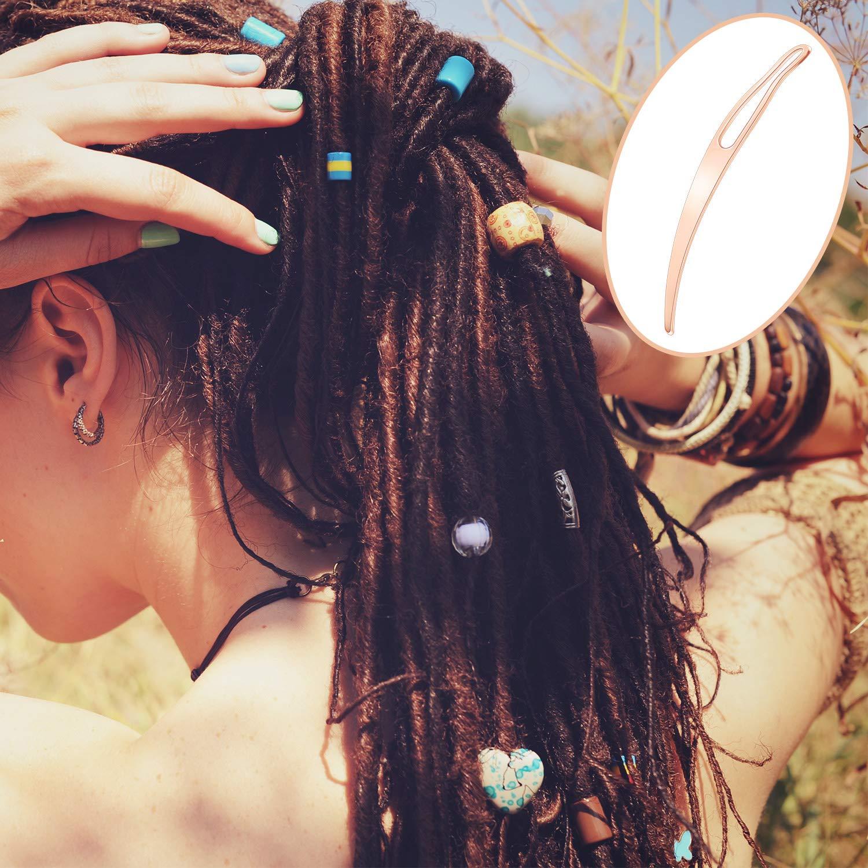 WILLBOND 12 Pi/èces de Outil de Verrouillage Kit de Outil de Dreadlocks Outil de Rallumage Sisterlock Outil de Cheveux Easyloc pour Maintenir Votre Dreadlock