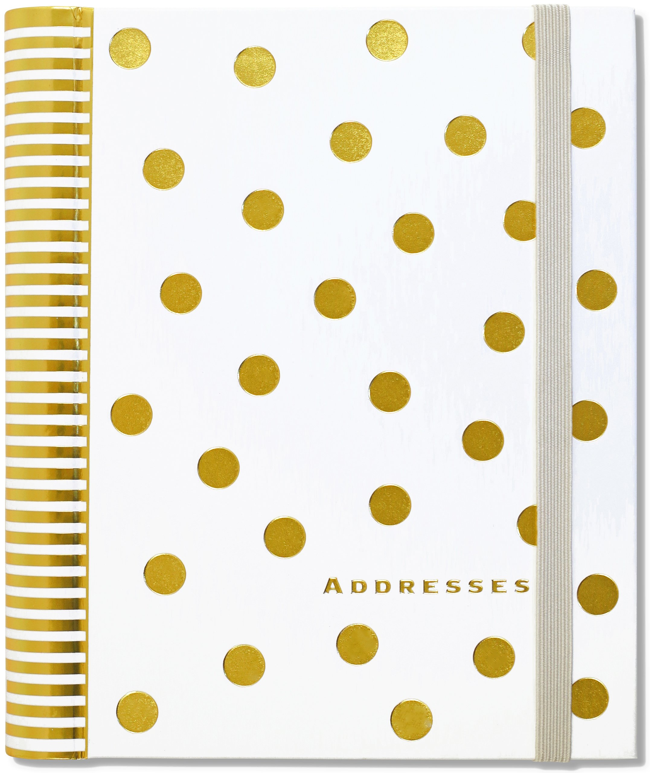 Gold Dots Large Address Book product image