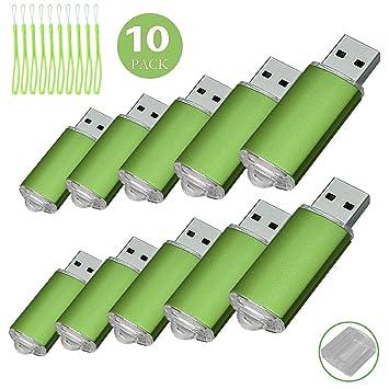 Yaxiny - Memoria USB 2.0 (10 unidades) verde 32 gb: Amazon.es: Informática
