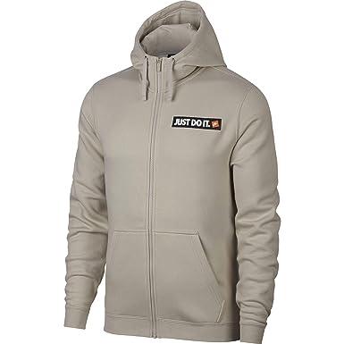 Nike Men s Sportswear Full-Zip Fleece Hoodie Brown at Amazon Men s ... e16d8f3c0