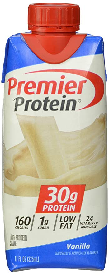 Premier Nutrition High Protein Shake, Vanilla, 11 oz.,18 Count Protein Supplements at amazon