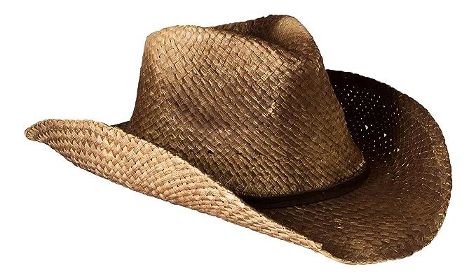 c89018d196c Gamble   Gunn Vintage Style Unisex Cowboy Hat - Brown Straw With ...