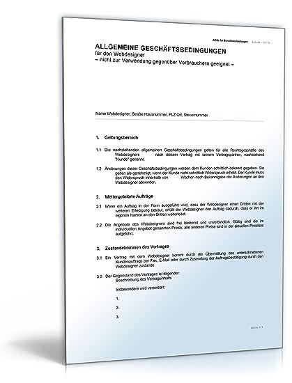 Agb Webdesign Word Dokument Amazonde Software