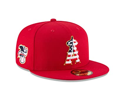 426fdbe95ff ... closeout new era los angeles angels 2018 stars stripes 4th of july 59fifty  hat 7 c83a1