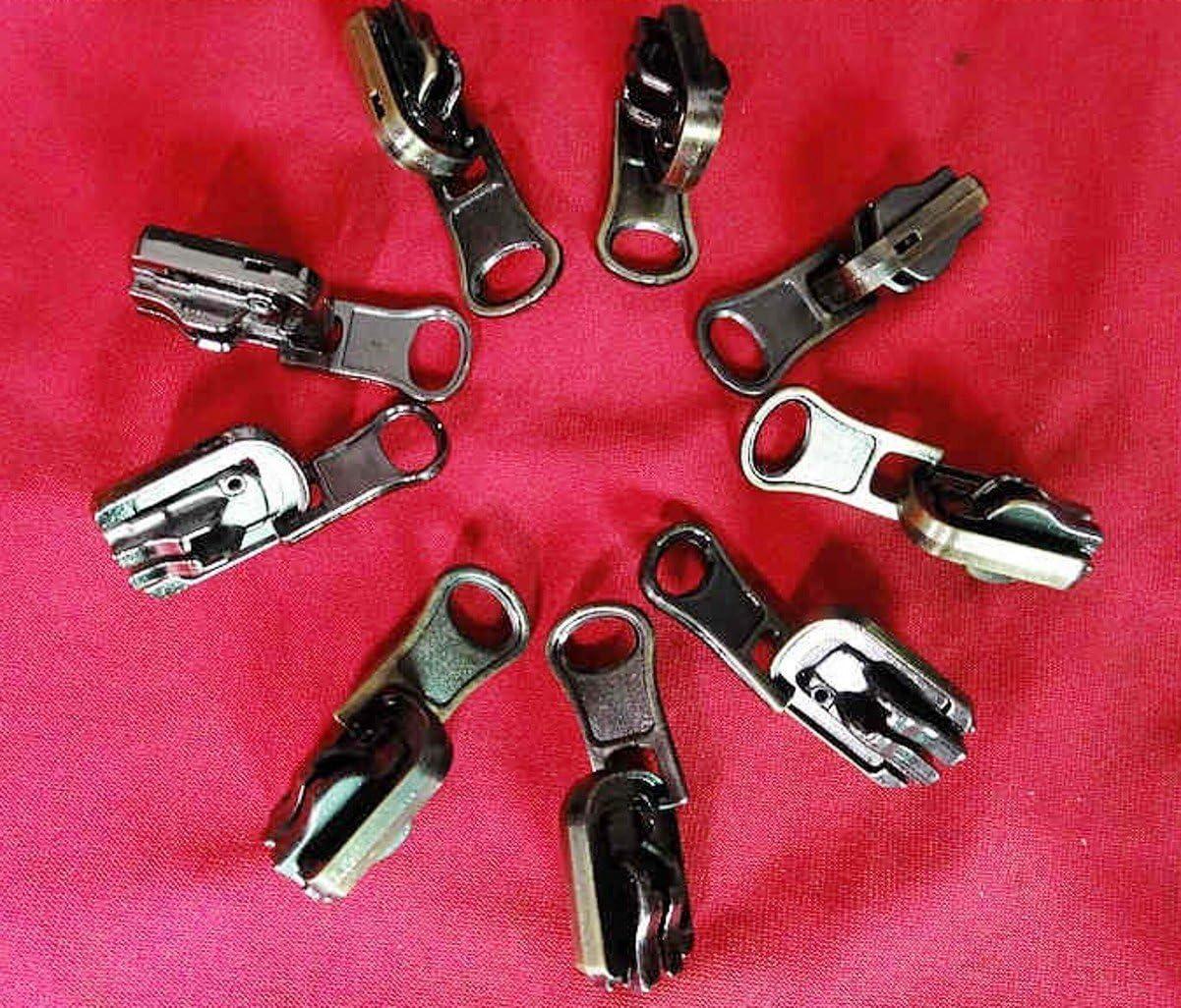 CHENGYIDA Lot de 10 curseurs r/éversibles en r/ésine avec Fermeture /éclair n/°5 Couleur Nickel