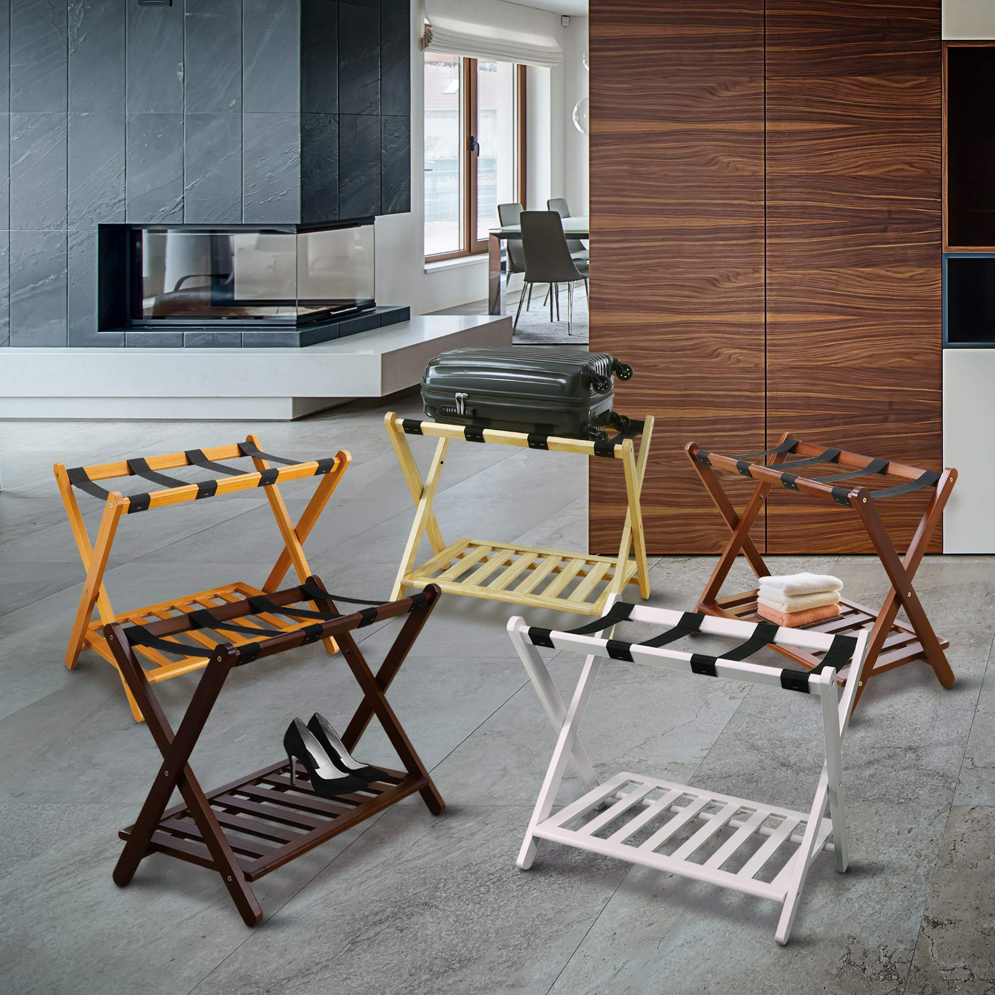 Casual Home Luggage Rack with Shelf by Casual Home (Image #14)