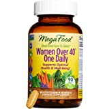 MegaFood - Women Over 40 One Daily, Multivitamin Support for Hair, Skin, Nails, Energy Production, and Hormone Balance with Iron and B Vitamins, Vegetarian, Gluten-Free, Non-GMO, 90 Tablets (FFP)