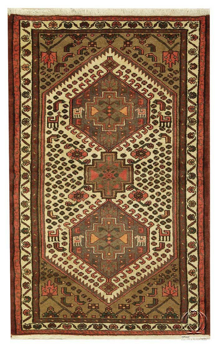 IT-1774-Tappeto Autentico Originale Annodato a Mano Con Certificato di Autenticità CM 155x100- Galleria Farah1970
