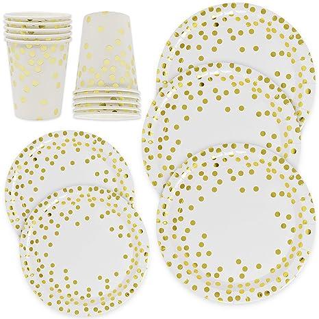Amazon.com: Gift Boutique - Juego de platos y tazas de papel ...