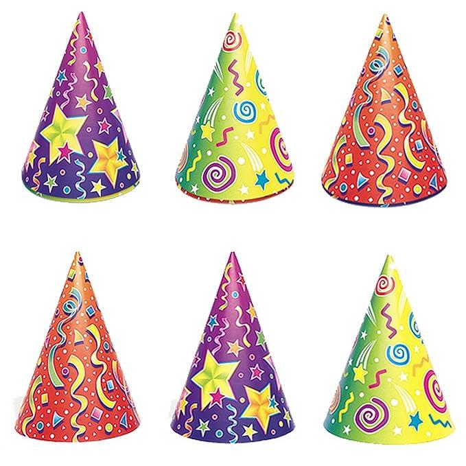 Unique Party - Cappellini fantasia per feste (confezione da 6) (Taglia  unica) 8e3597fddd8d