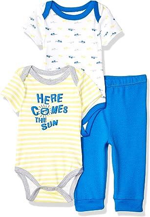 Quiltex Boys Toddler Little Robot 3 Pc Turn Me Around Pant Set