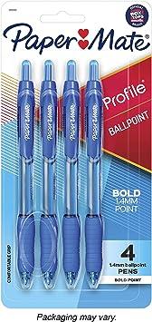 2 x Blue Ink Cartridges Paper Mate Super Glide Fountain Pen Papermate