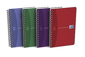 Oxford - Libreta con gusanillo (tapa flexible, 11 x 17 cm, 180 páginas, cuadrícula de 5 x 5 mm, 10 unidades): Amazon.es: Oficina y papelería