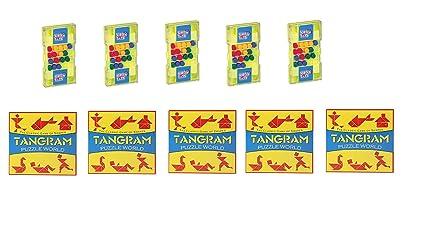Virgo Toys Matchup & Tangram (Combo) - Pack of 5
