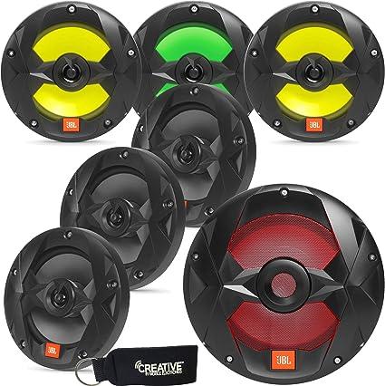"JBL Club Marine MS65LB 6.5/"" 2-Way Speakers w// RGB Lighting Pair, Black"