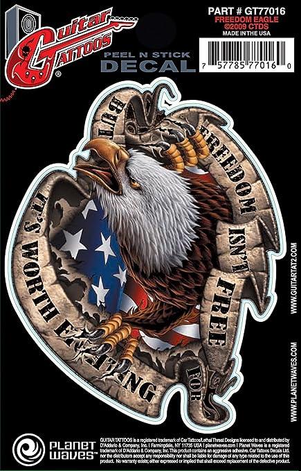 Planet Waves Guitar Tattoo - Eagle de la libertad: Amazon.es ...