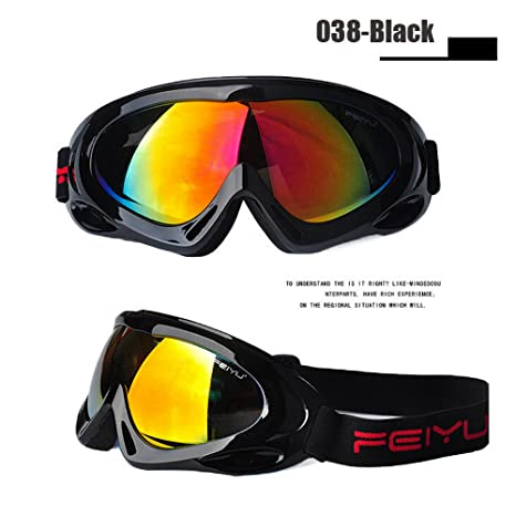 8f86b3eca10c Men Women Skiing Eyewear UV400 Anti-fog Snowboard Goggles Ski Glasses  Outdoor Sports Hiking Cycling