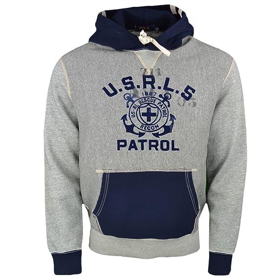 Ralph Lauren Herren Blouson Sweatshirt Gr. M, grau  Amazon.de ... 03bd3f07b2