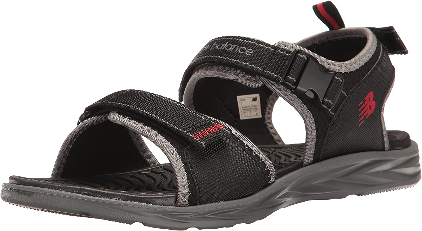 845e7895738c7 Amazon.com | New Balance Men's Response Sandal Black/Grey, 7 D US ...