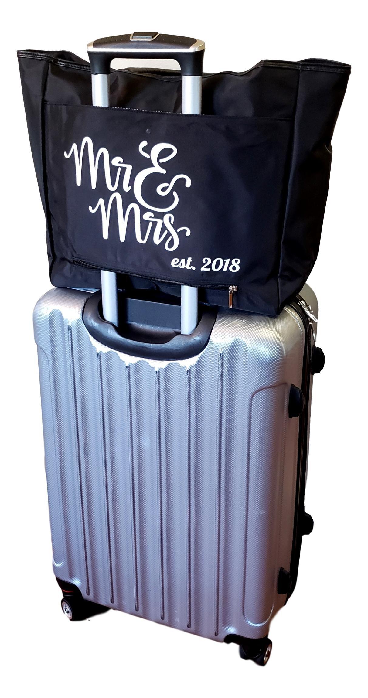 Large Black Organizing Travel Companion Purse Handbag Bag (No Embroidery - Black) by Sona G Designs (Image #7)