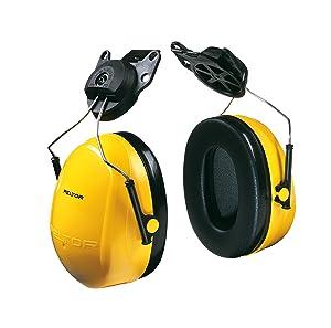 3M Peltor H9P3E Optime 98 Helmet Attachable Earmuff, Hearing Protection, Ear Protectors, NRR 20 dB