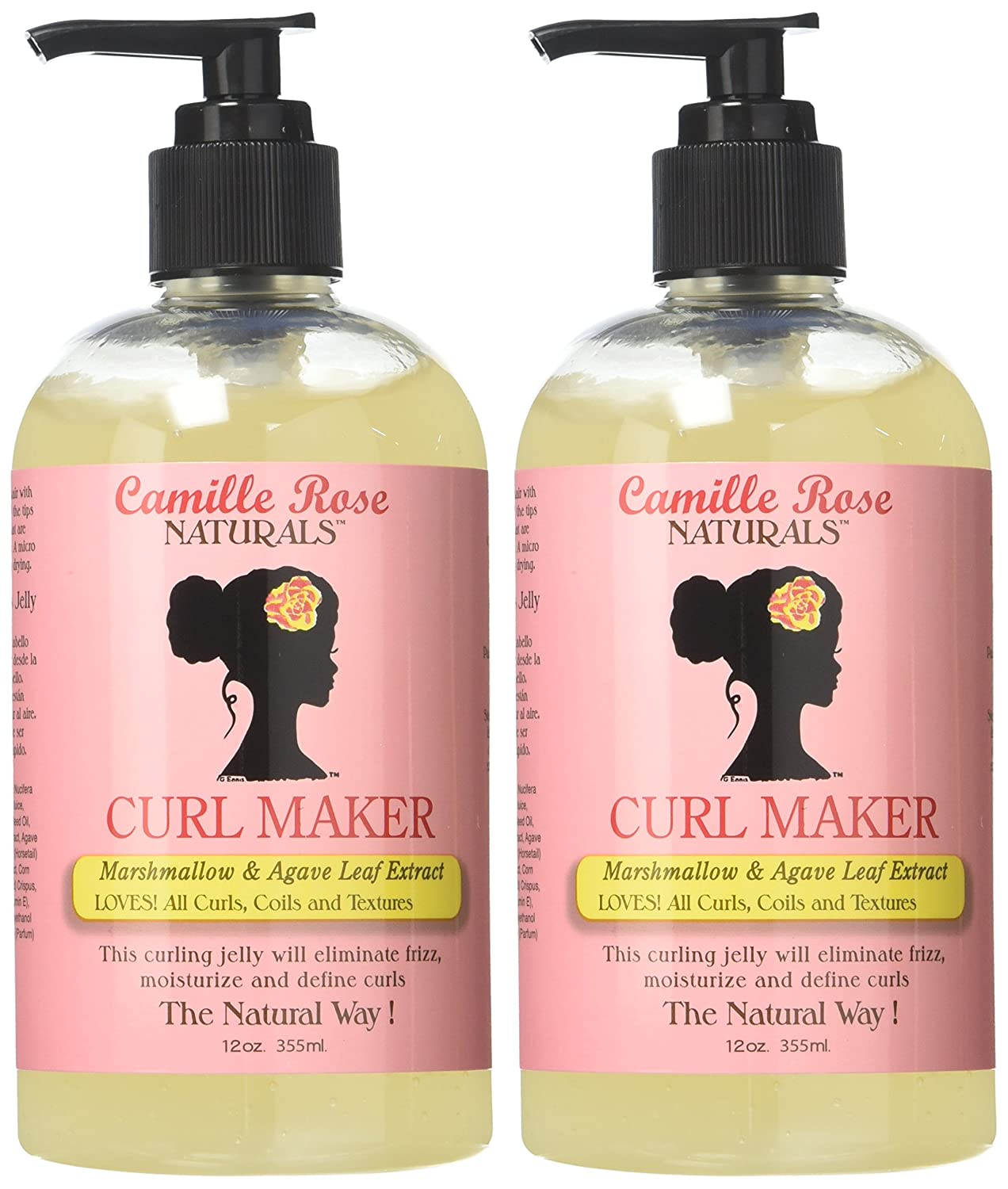 Amazon.com : Camille Rose Naturals Curl Maker, (2 Pack of 12 Ounce) : Beauty