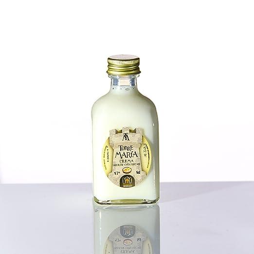 Botellita Miniatura de Licor de Crema de Arroz con Leche Torre María | botella Frasca 5cl