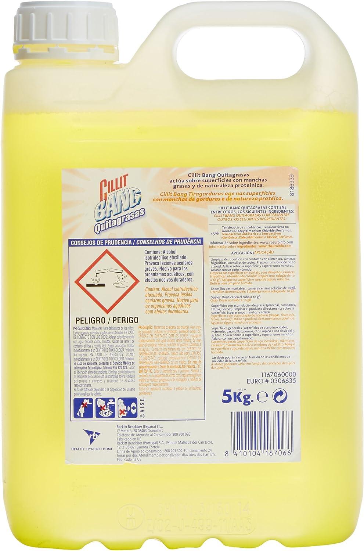 Cillit Liquido limpiador para baños Bang Profesional - 5000 ml: Amazon.es: Alimentación y bebidas