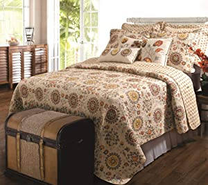 Greenland Home Andorra Quilt Set, 5-Piece King/Cal King, Multi