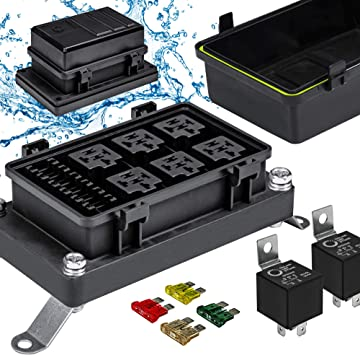 [DIAGRAM_3US]  Amazon.com: 12V Auto Waterproof Fuse Relay Box Block Kit [6 Bosch Style  Relay Holder] [6 ATC/ATO Fuse Holder] [Relays & Fuses Included] Universal  Relay Block Box for 12V Automotive Vehicles Cars Marine | Waterproof Fuse Block |  | Amazon.com