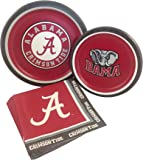 University of Alabama Party Supply Pack! Bundle Includes Paper Plates & Napkins for 8 Guests