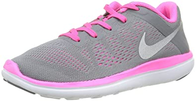 new styles acecc c3db4 Nike Flex 2016 Rn (Gs), Girls  Competition Running Shoes, Grey (