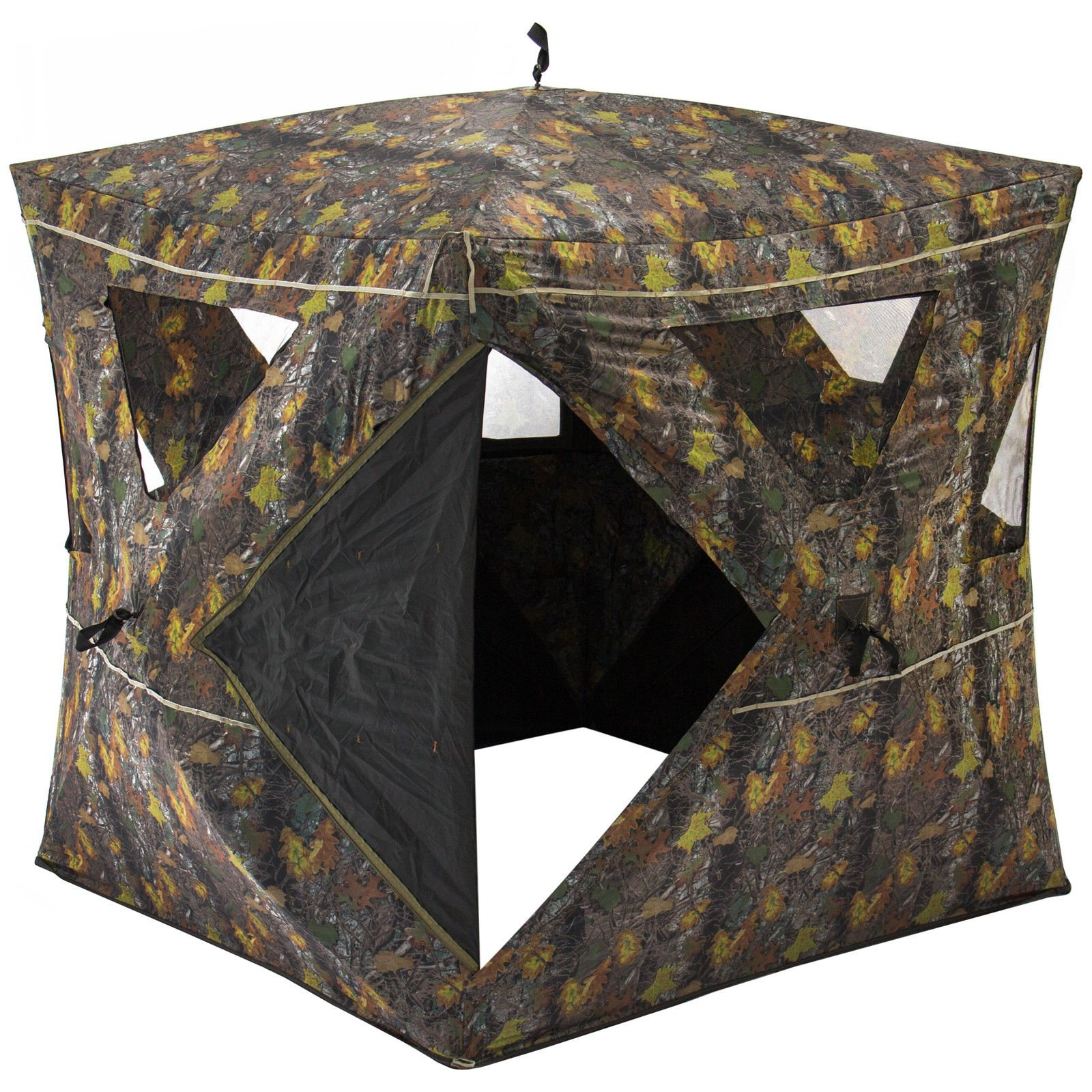 2-Person Portable Weather-Resistant Hunting Hub Blind W/ 360 Degree Viewing + FREE E - Book by Eight24hours