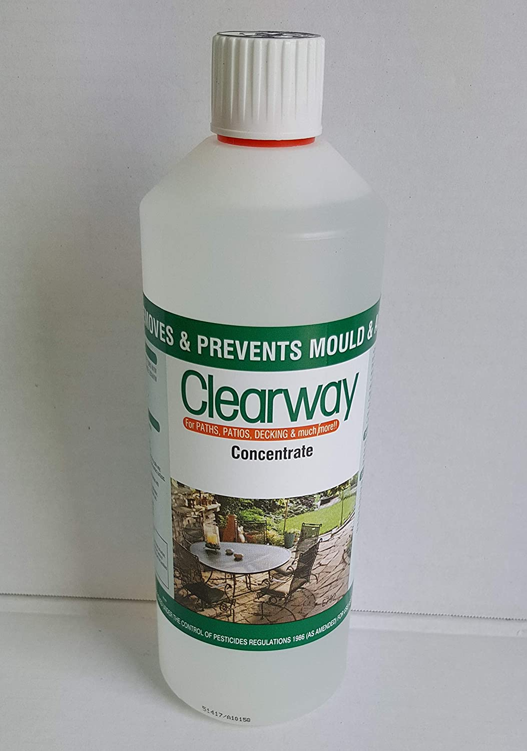 Clearway mould and algae cleaner and preventative 1L Clearway Byotech
