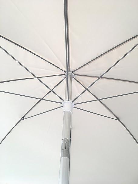 Srl Ombrellone Lido Spiaggia Beige in Alluminio con snodo Misura 220 cm in Alluminio e Poliestere 230 gr Michele Sogari /& C