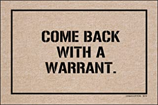 product image for HIGH COTTON Doormat - Come Back with a Warrant