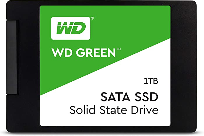 WD Green 1TB Internal PC SSD - SATA III 6 Gb/s, 2.5 Inch /7mm - WDS100T2G0A