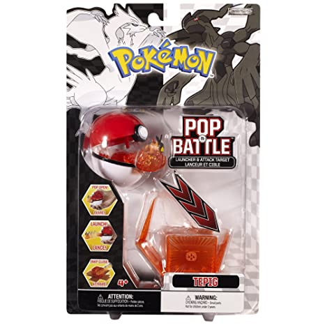 amazon com pokemon pop n battle launcher with attack target b w