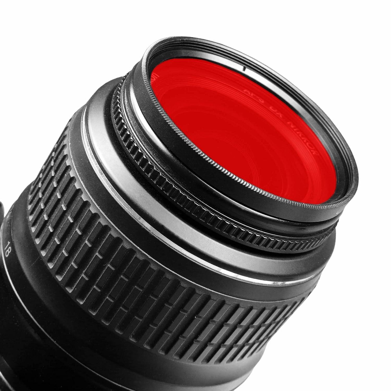 NEX-F3 e piu.. NEX-5N NEX-C3 + panno di pulizia in microfibra NEX-5R smardy Filtro rosso 49 mm per Sony Alpha 3000 Alpha 7R NEX-3 NEX-7 NEX-5
