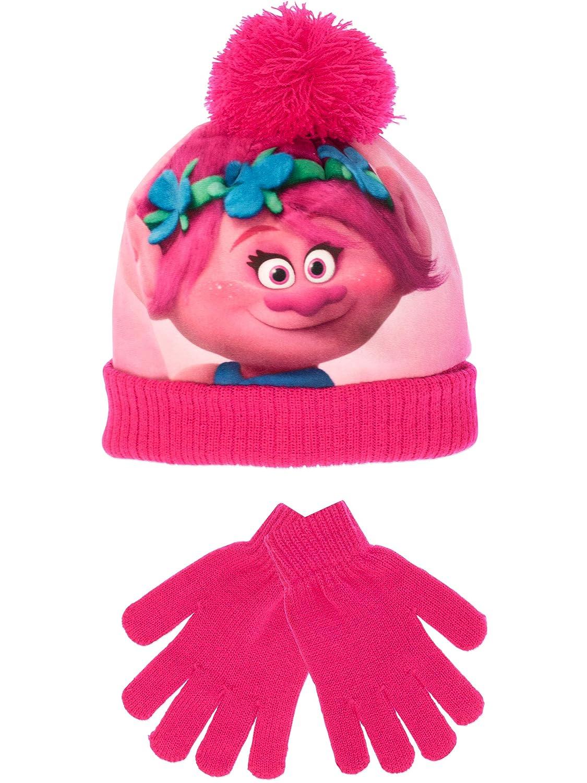TROLLS Poppy - Conjunto de gorro y guantes para niñ a - Un tamañ o